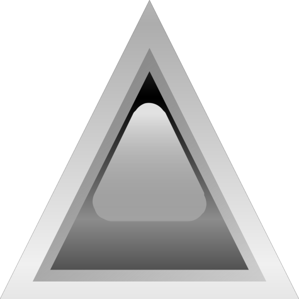 Led Triangular 1 (black) PNG Clip art
