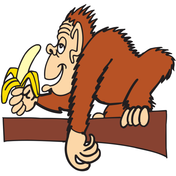 Ape With A Banana PNG Clip art