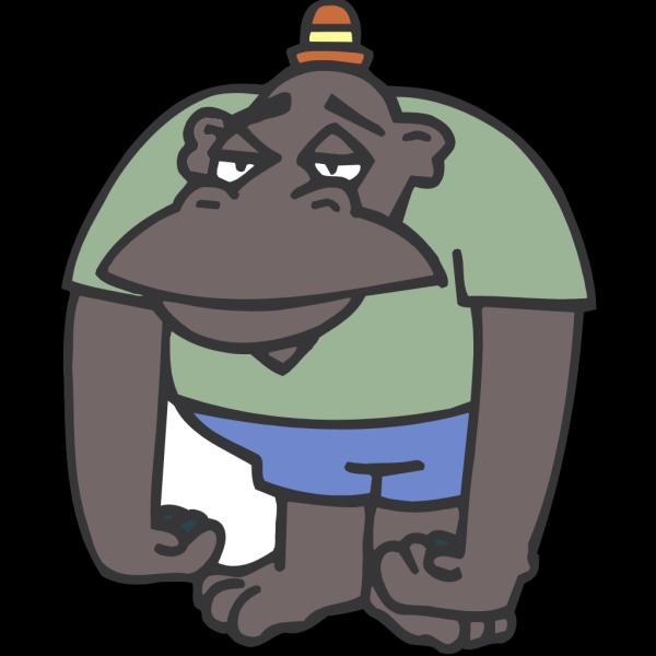 Sad Ape PNG Clip art