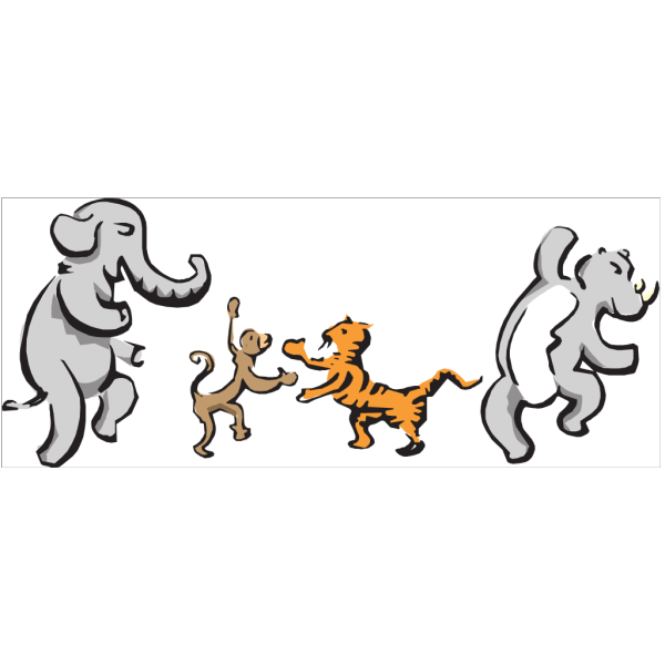 Dancing Animals PNG Clip art