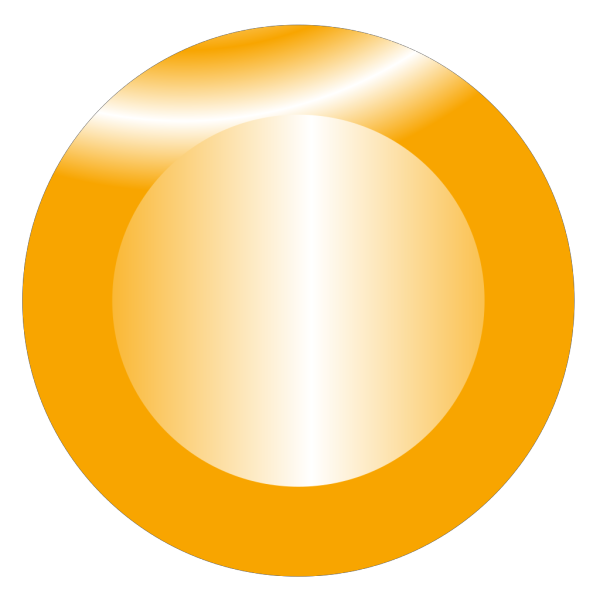 Orange Circular Button PNG Clip art