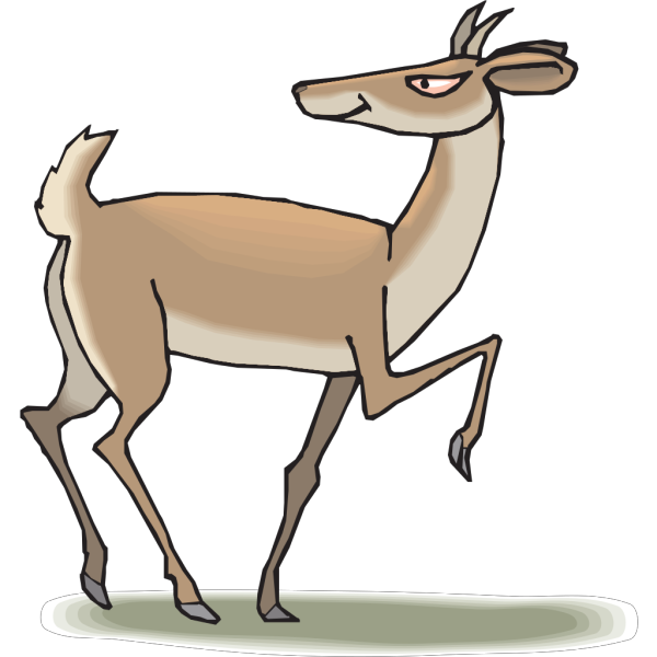 Sinister Antelope PNG Clip art