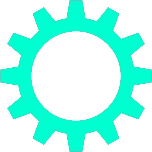 Turquoise Cogwheel PNG images