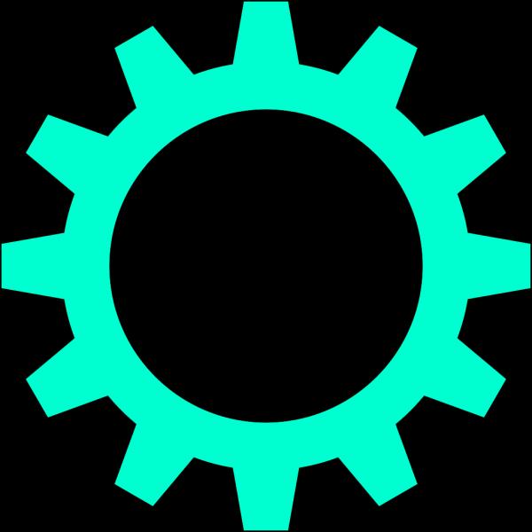 Turquoise Cogwheel PNG Clip art