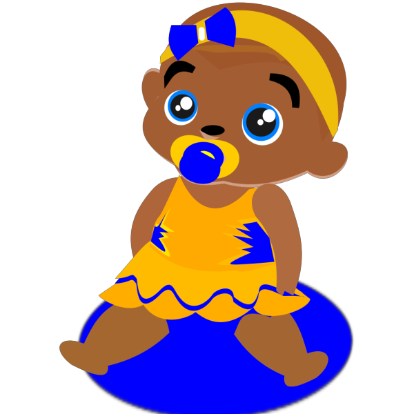 Blue &yellow Baby PNG Clip art