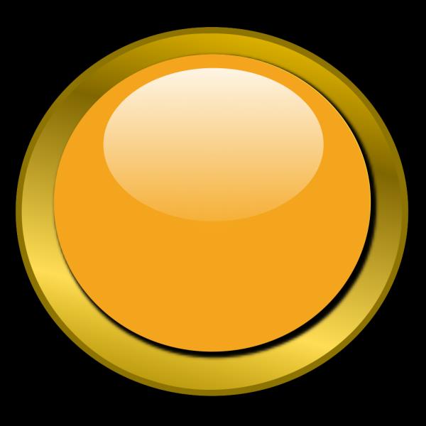 Orange Round Button 1 PNG Clip art