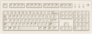 Biege Brown Pc Keyboard PNG images