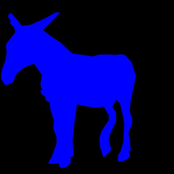 Blue Donkey PNG Clip art