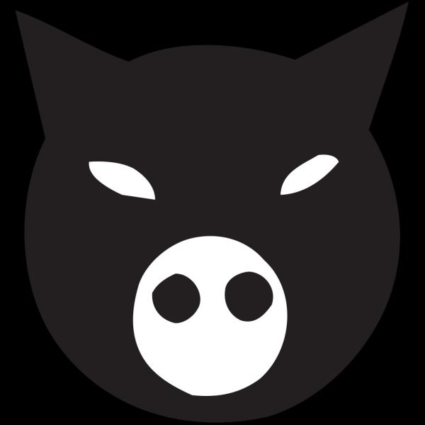 Black Pig Face PNG Clip art