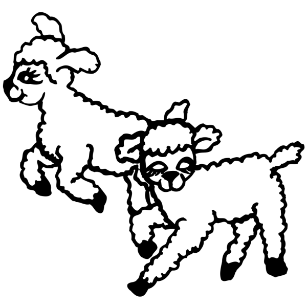 Jumping Lambs PNG Clip art