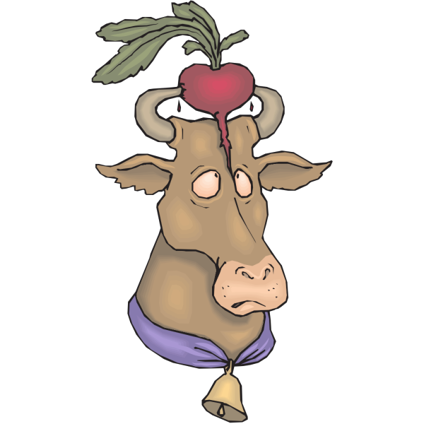 Cow With Radish PNG Clip art