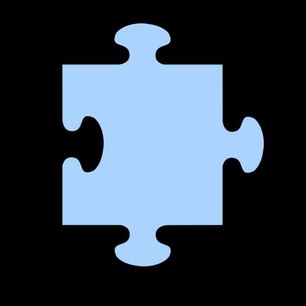 Light Blue Jigsaw PNG Clip art