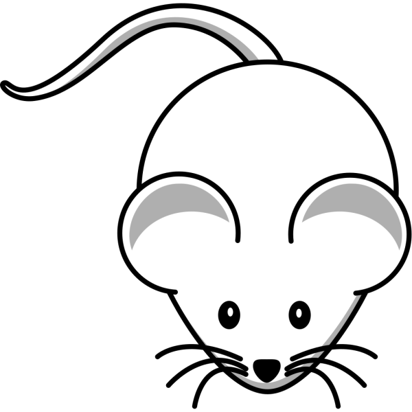 Blue White Mouse PNG Clip art