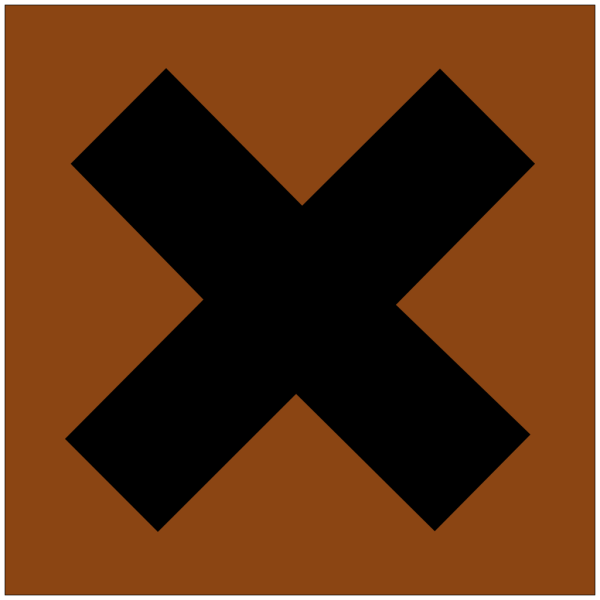 Hazard X Bronze PNG Clip art