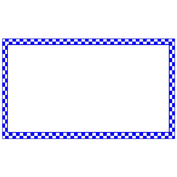 Blue Checkered Border PNG images