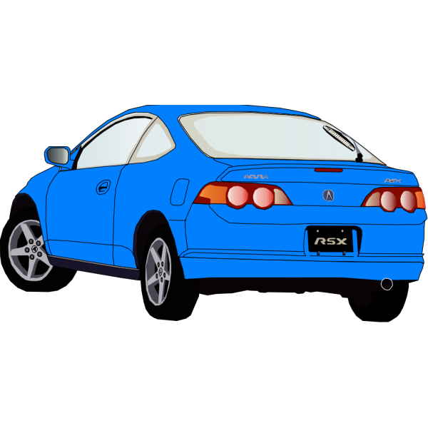 Carro Accura Azul PNG Clip art