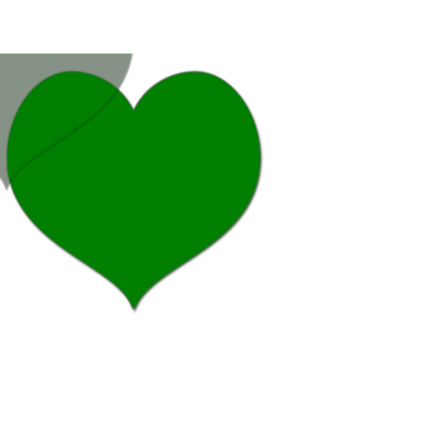 Brown Green Heart PNG Clip art
