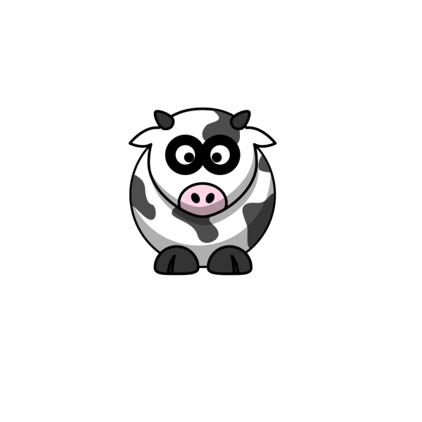 Brown And White Cartoon Cow PNG Clip art