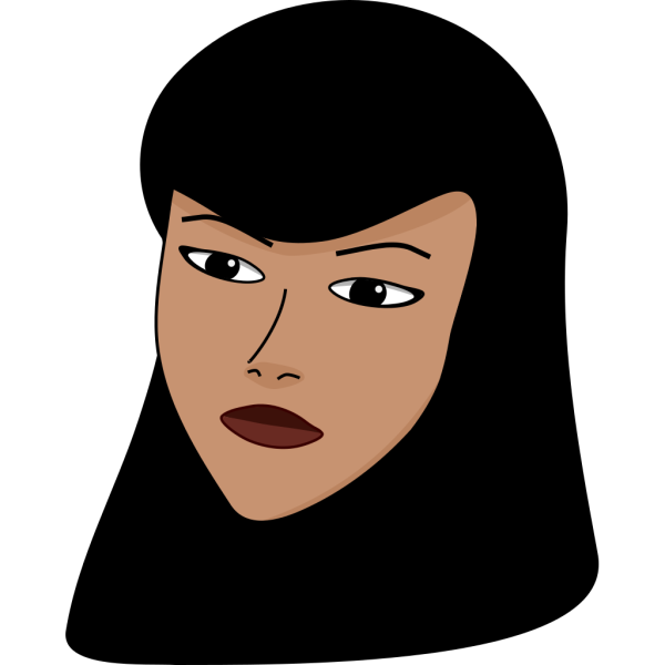 Covered Woman Head PNG Clip art