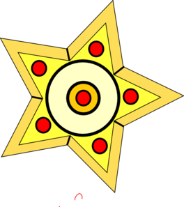 Yellow Star 4 PNG Clip art