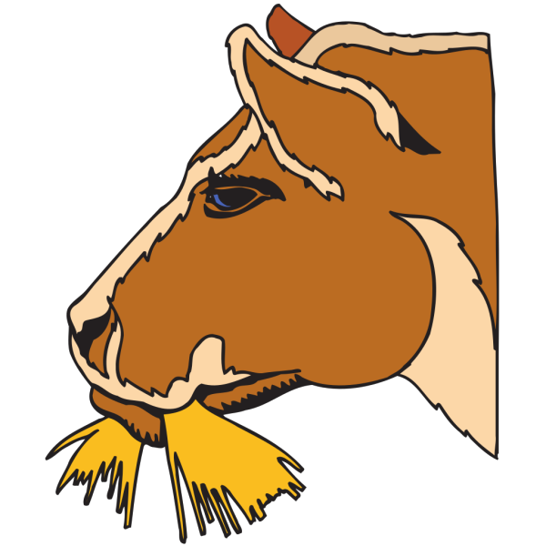Cow Eating Hay PNG Clip art