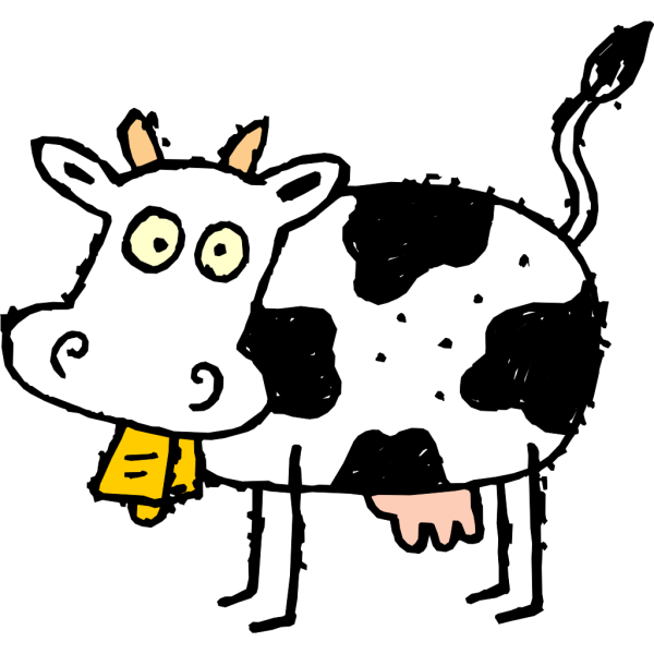 Side view Of A Cow PNG Clip art