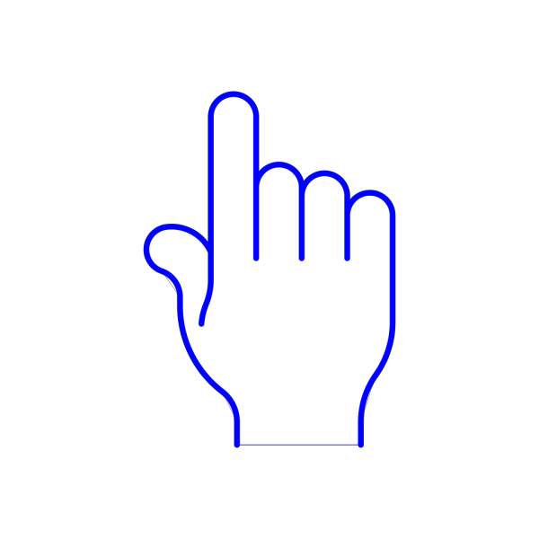Blue Pointer Finger