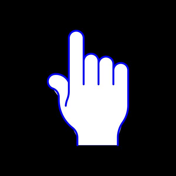 Blue Pointer Finger PNG Clip art