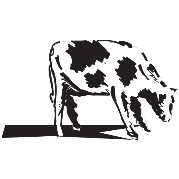 Grazing Cow Sketch PNG images
