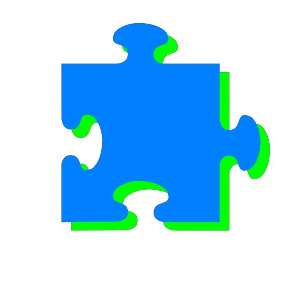 Blue N Green Puzzle PNG Clip art