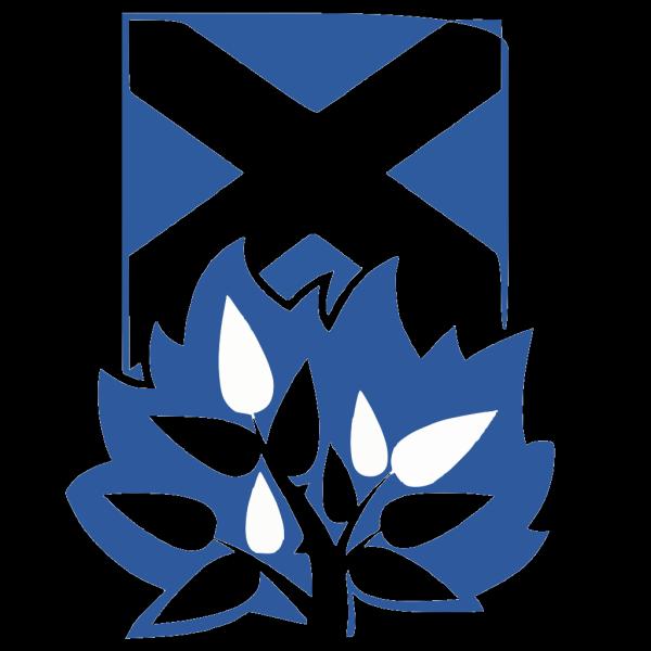 Cos Burningbush Blue PNG Clip art