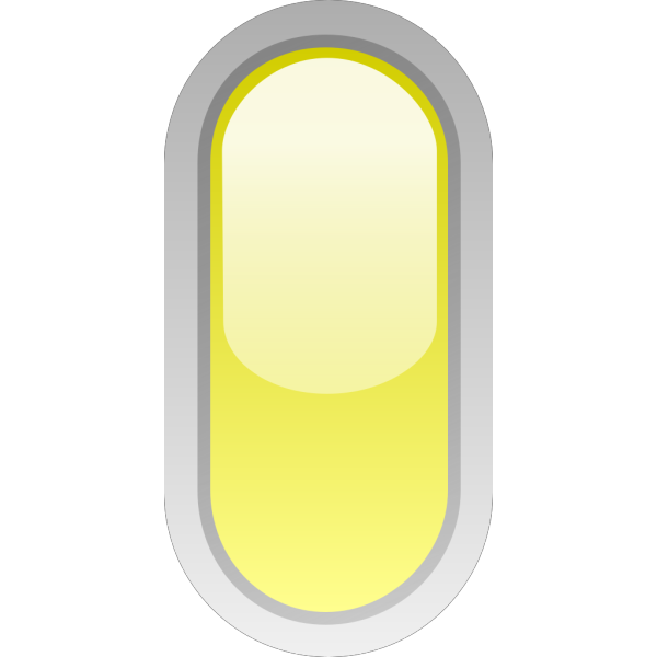 Led Rounded V Yellow PNG Clip art