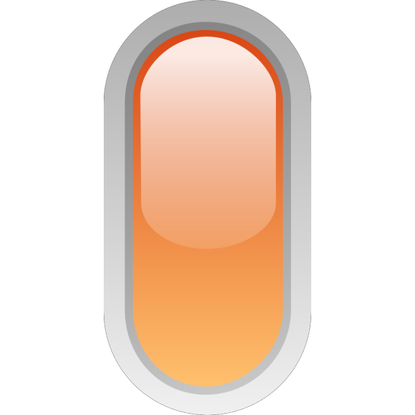 Led Rounded V Orange PNG Clip art