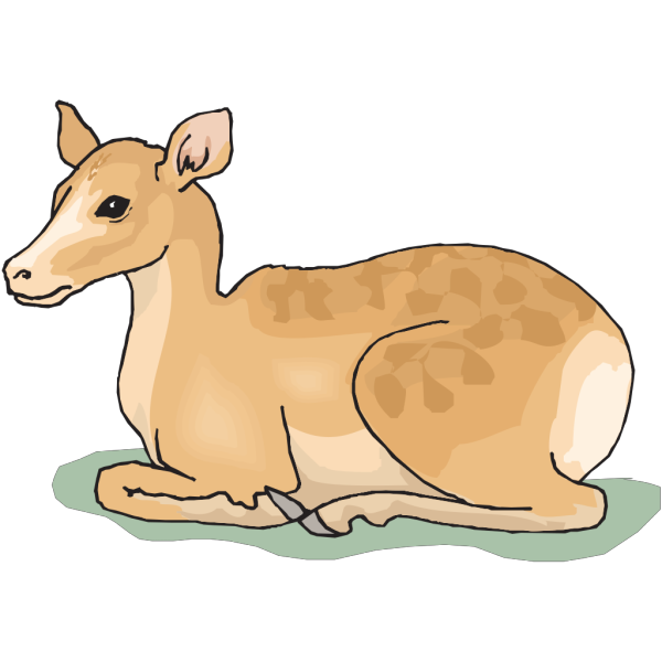 Sitting Deer PNG Clip art