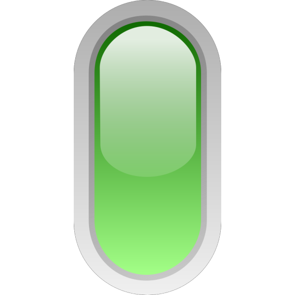Led Rounded V Green PNG Clip art