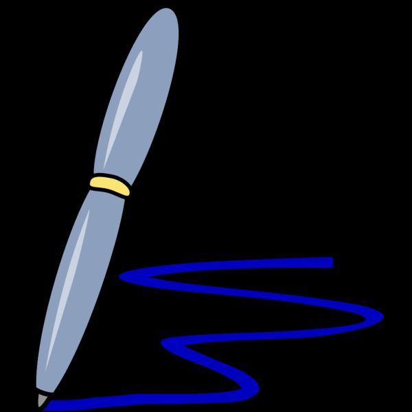 Blue Pen PNG Clip art