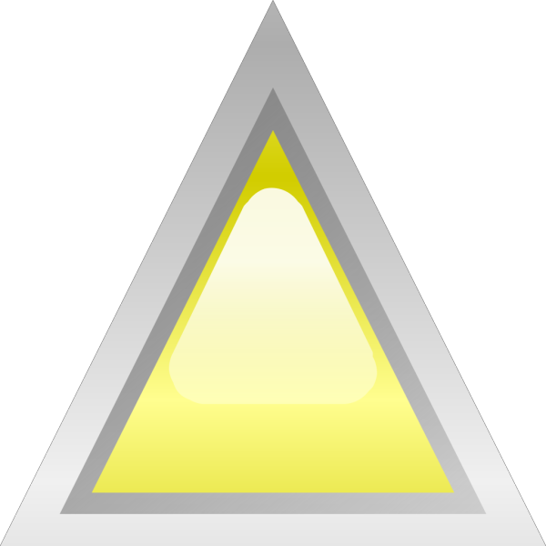 Led Triangular Yellow PNG Clip art