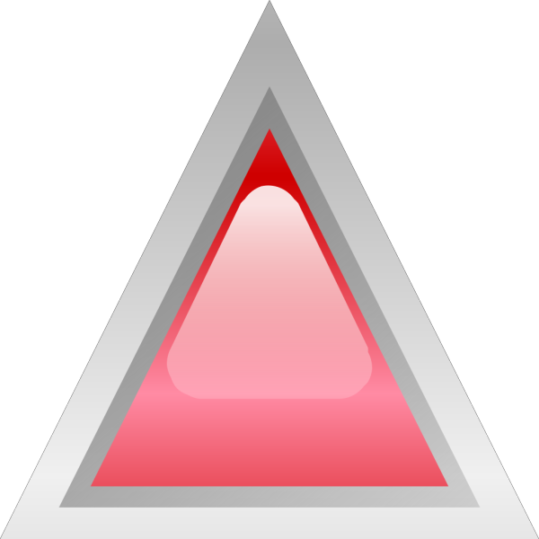Led Triangular Red PNG Clip art