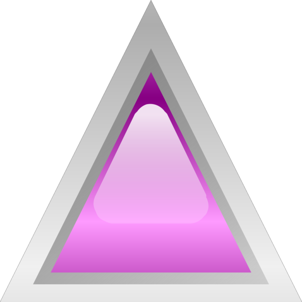 Led Triangular Purple PNG Clip art