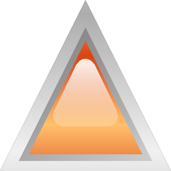 Led Triangular Orange PNG Clip art