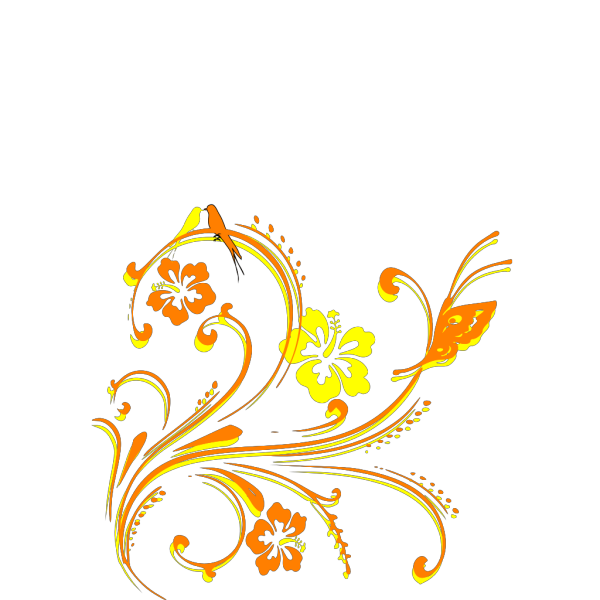 Brown Butterfly Scroll PNG Clip art