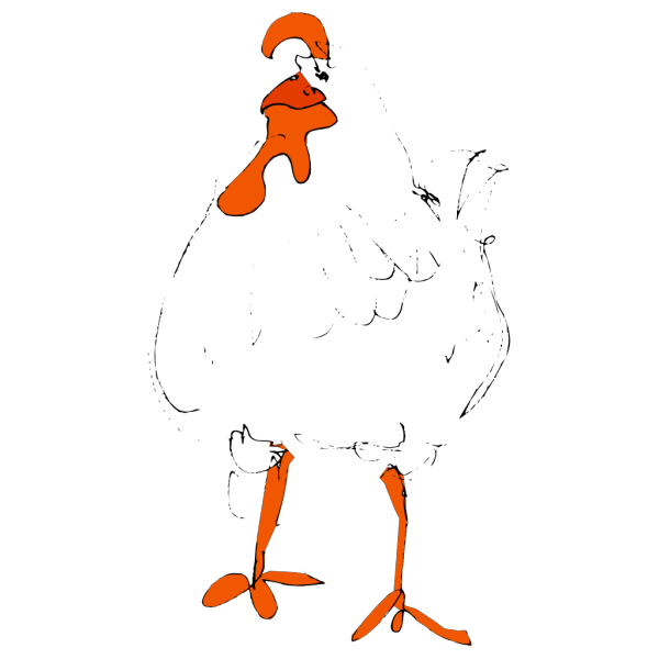 Chicken Sketch PNG Clip art