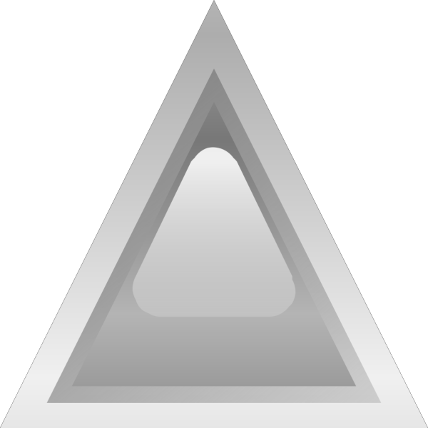 Led Triangular Grey PNG Clip art