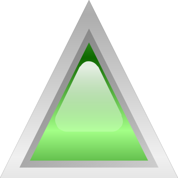 Led Triangular Green PNG Clip art