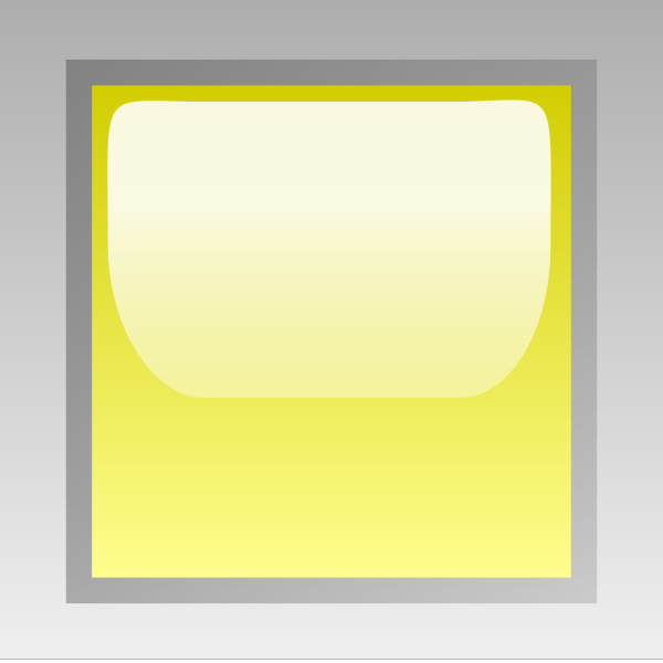 Led Square Yellow PNG Clip art