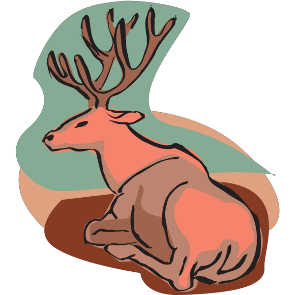 Deer Sitting In The Shade PNG Clip art