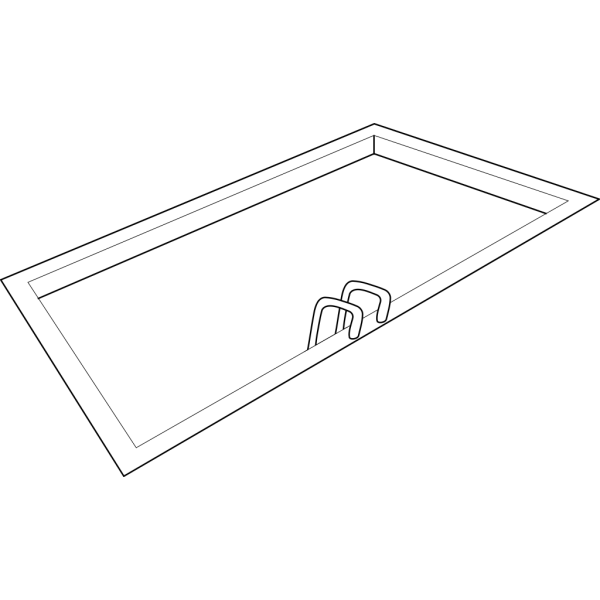 Swimming Pool Outline PNG Clip art