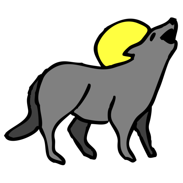 Howling Coyote PNG Clip art