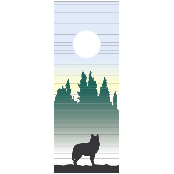 Coyote With The Sun PNG Clip art