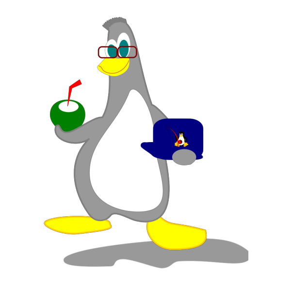 Penguin With Drink PNG images